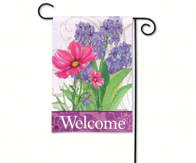 SPRING FLOWERS WELCOME FLAG - $11.95